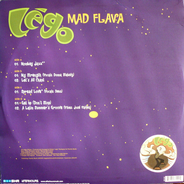 Lego ‎– Mad Flava - New Vinyl 2 Lp Set 2000 USA Original Press - Chicago House