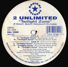 "2 Unlimited – Twilight Zone 12"" Dance 1992 - Techno - Shuga Records Chicago"