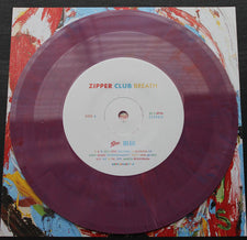 "Zipper Club - Breath / Regrets - New 7"" Vinyl 2017 Epic Record Store Day Pressing on Colored Vinyl with Lavender Scented Insert, Limited to 1000 - Electronic / Synthpop"