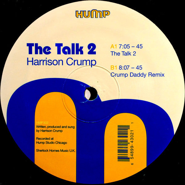 "Harrison Crump ‎– The Talk 2 - Mint- 12"" Single USA 2003 - Chicago House"