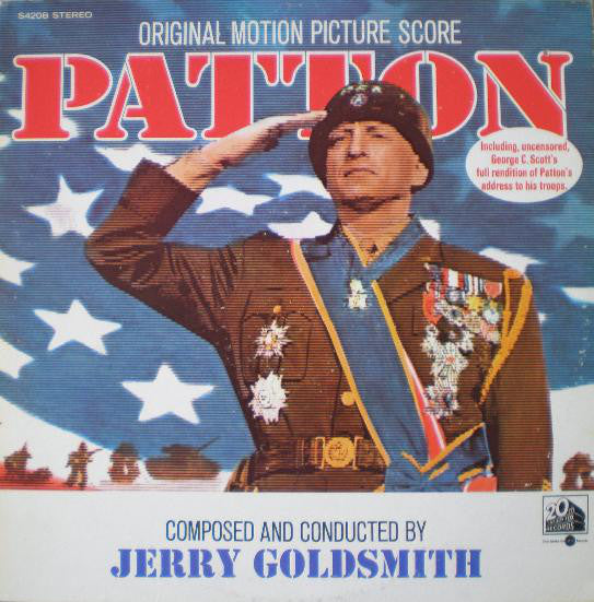 Jerry Goldsmith ‎– Patton (Original Motion Picture Score) - VG+ 1970 Stereo USA Original Press Record - Soundtrack