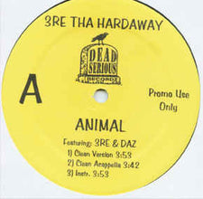 "3re Tha Hardaway & Daz – Animal - Mint- 2001 USA 12"" Promo -  Hip Hop - Shuga Records Chicago"