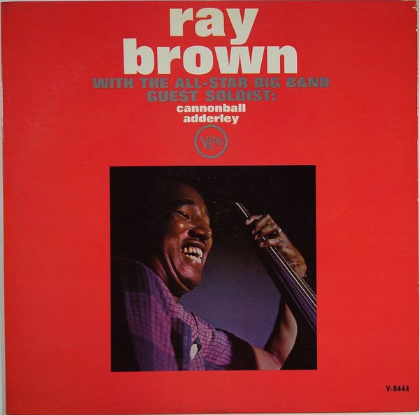 Ray Brown Guest Artist Cannonball Adderley ‎– With The All-Star Big Band - VG+ Lp Record 1962 USA Mono Original Vinyl- Jazz