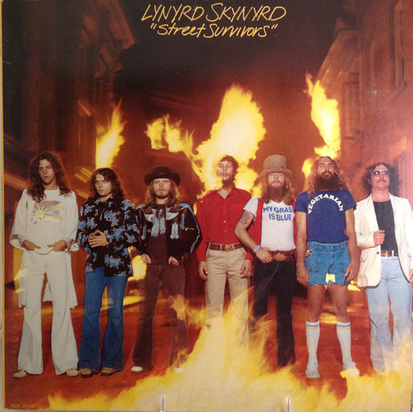 Lynyrd Skynyrd – Street Survivors - Mint- 1977 (Non Flame Cover 2nd Press) (With Insert Sheet) - Rock - B21-125