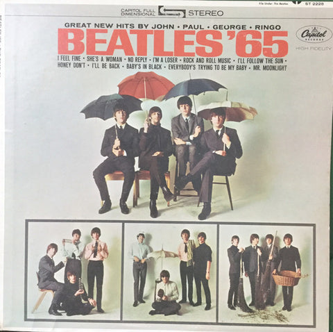The Beatles ‎– Beatles '65 (1964) - VG+ Lp Record 1971 Apple USA Stereo Vinyl -  Rock & Roll / Beat