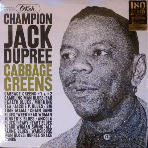 Champion Jack Dupree ‎– Cabbage Greens - New Vinyl Record 180 Gram USA - Blues