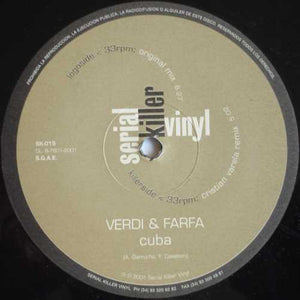 "Verdi & Farfa – Cuba -12"" Single 2002 Minimalistik (Italian Import) - Techno/Tribal House"