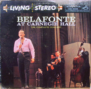 Harry Belafonte ‎– Belafonte At Carnegie Hall: The Complete Concert - VG+ 2 Lp Record 1959 Stereo USA Original Vinyl - Folk / Calypso