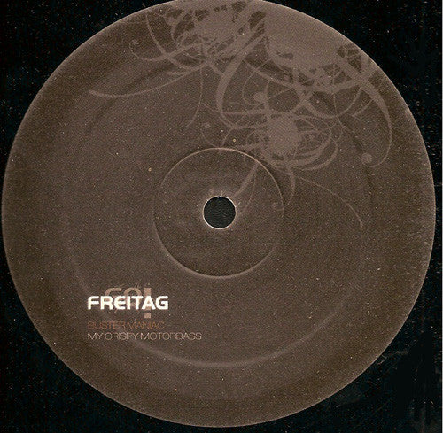 "Buster Maniac ‎– My Crispy Motorbass - Mint- 12"" Single German Import 2007 - Techno"
