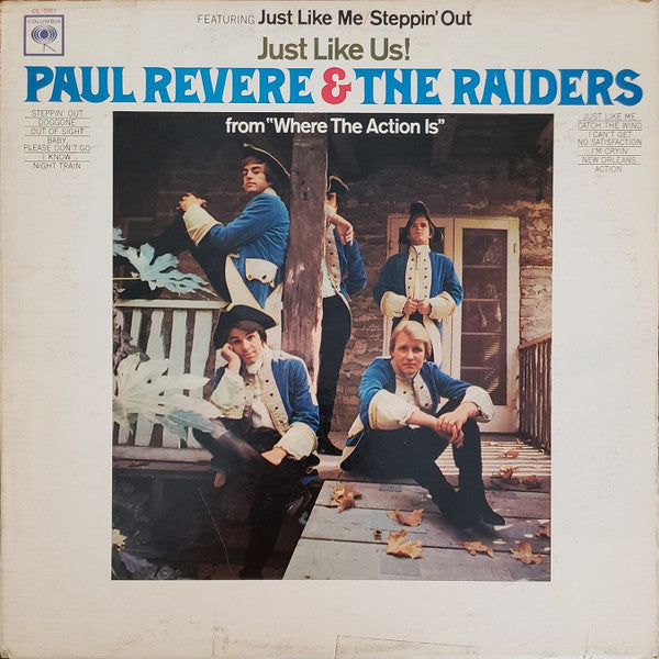 Paul Revere & The Raiders ‎– Just Like Us - VG Lp Record 1966 CBS USAS Mono Vinyl - Pop Rock / Rock & Roll / Garage Rock