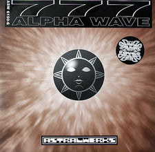 "777 ‰Û_‰ÛÒ Alpha Wave - VG+ 12"" Single USA 1995 (Orignal Press) Plastikman Acid House Mix - Acid/Techno - Shuga Records Chicago"