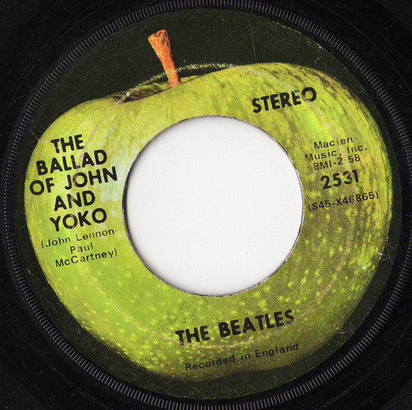 "The Beatles ‎– The Ballad Of John And Yoko / Old Brown Shoe VG 7"" Single 45 Record 1969 USA Apple - Pop Rock"
