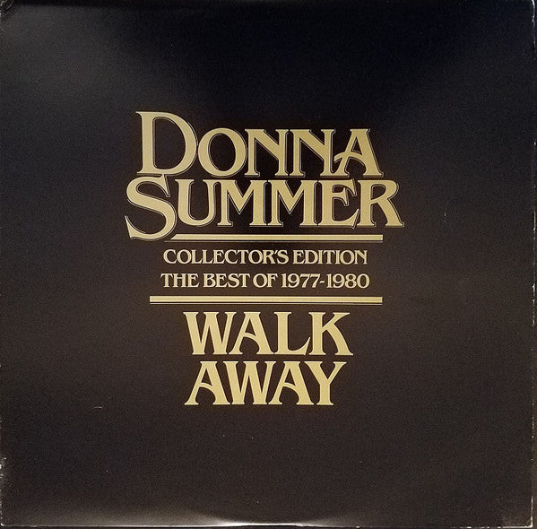 Donna Summer ‎– Walk Away Collector's Edition (The Best Of 1977-1980) - VG+ Lp Record 1980 Original USA - Disco