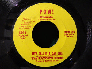 "The Razor's Edge ‎– Let's Call It A Day Girl / Avril (April) - VG+ 7"" Single 45 Record 1966 USA Pow! Vinyl - Garage Rock"