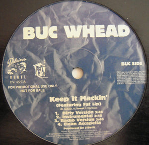 "Buc Whead – Keep It Mackin' / Smoker's Emporium - VG+ 12"" USA 1996 Promo - Hip Hop"