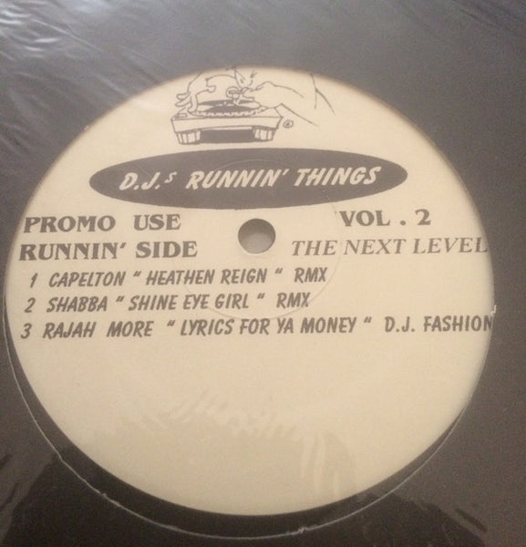 "Brandy/SWV/DJ Fashion/Capleton/Shabba/Rajah More - DJ's Runnin Things Vol. 2 - VG+ 12"" Single USA 1990's - Hip Hop/Ragga"