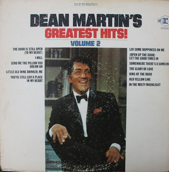 Dean Martin ‎– Dean Martin's Greatest Hits, Volume 2 - New Vinyl Record 1968 (Original Press) USA - Jazz/Pop