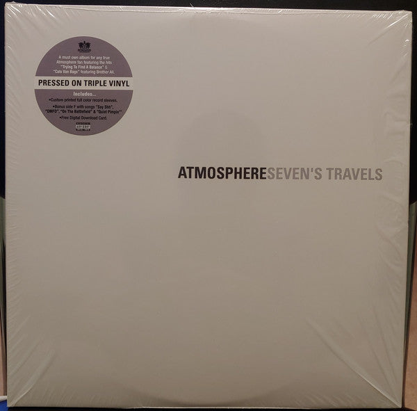 Atmosphere - Seven's Travels - New 3 Lp Record 2019 Rhymesayers USA Vinyl & Download - Hip Hop
