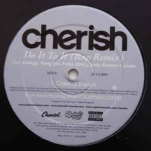 "Cherish Featuring Chingy, Yung Joc, Fabo (D4L), Jody Breeze & Jazze Pha ‎– Do It To It (Rap Remix) - New Vinyl Record 12"" Single USA 2006 - Hip Hop"