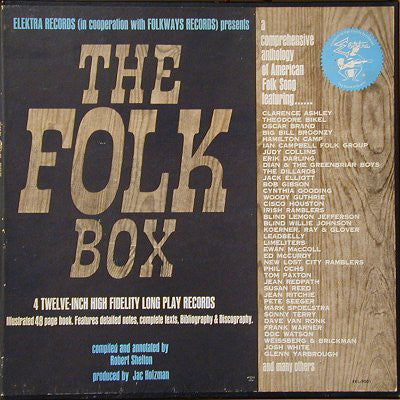 Various – The Folk Box - VG+ 4 Lp Box Set 1964 - Folk/Blues