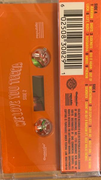 Lil Tecca ‎– We Love You Tecca - New Cassette 2019 Republic/Urban Outfitters Exclusive USA Orange Tape - Hip Hop