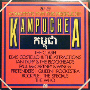 The Clash/The Who/Queen/Pretenders/Paul McCartney/Elvis Costello ‎– Concerts For The People Of Kampuchea - VG+ 2 Lp Record  1981 USA Original Vinyl - New Wave / Power Pop / Classic Rock