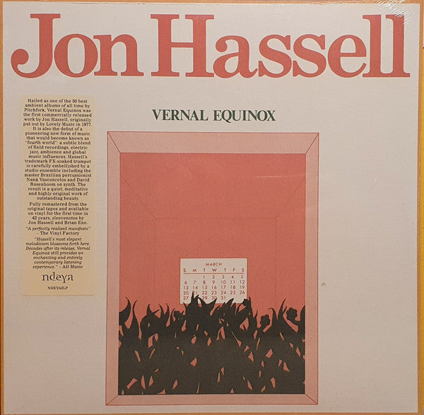 Jon Hassell - Vernal Equinox (1978) - New Lp Record 2020 Ndeya Europe Import Vinyl - Electronic / Ambient / Tribal