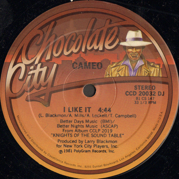 "Cameo – I Like It - VG+ 12"" Single USA (Promo) 1981 - Funk"