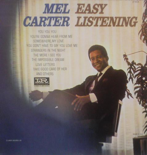 Mel Carter ‎– Easy Listening - VG+ Lp Record 1966 USA Mono Original Vinyl - Soul