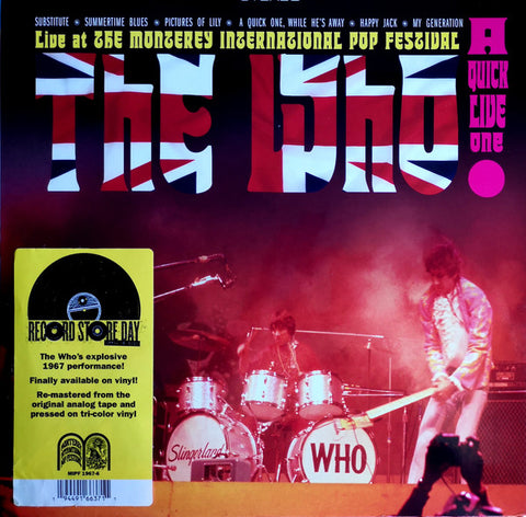 The Who - A Quick Live One - New LP Record Store Day 2020 Monterey Intl. Pop Fest Red, White & Blue Vinyl - Mod / Pop Rock