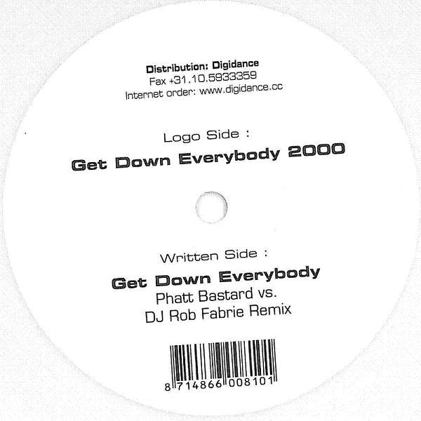 "Holy Noise ‎– Get Down Everybody 2000 - Mint- 10"" Single 2001 Netherlands Import White Vinyl - House"