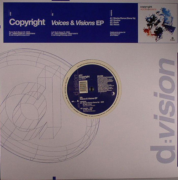 Copyright - Voices & Visions EP One - 2008 New Vinyl Record - Electronic / House