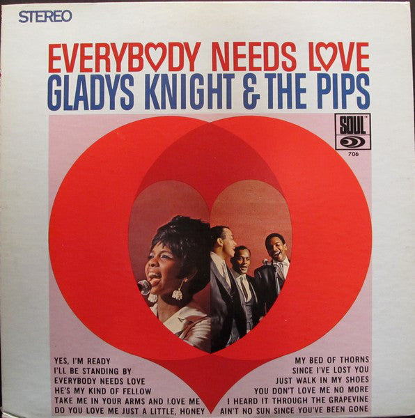 Gladys Knight & The Pips ‎– Everybody Needs Love - VG+ 1967 Stereo Original Press (Matching Inner Sleeve) USA - Soul