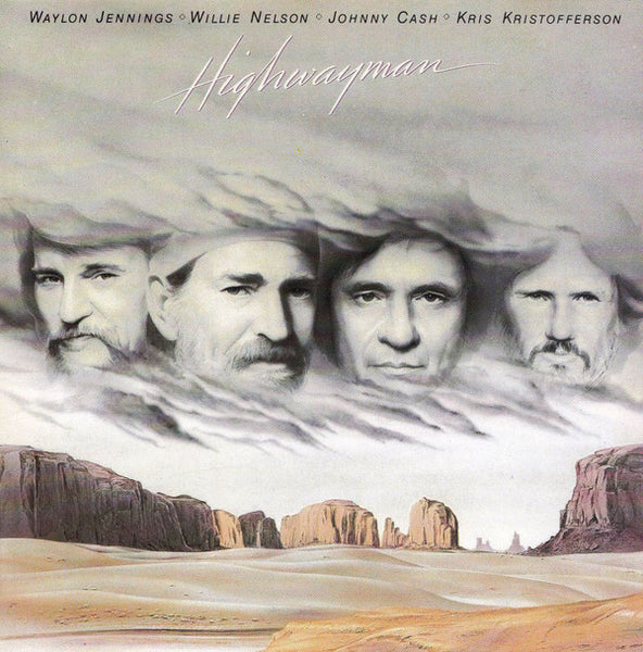 Waylon Jennings • Willie Nelson • Johnny Cash • Kris Kristofferson – Highwayman - Mint- 1985 Stereo USA - Country