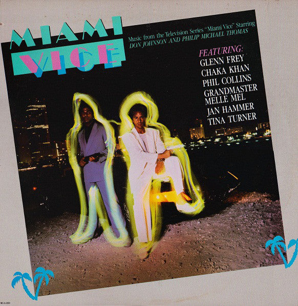 Various ‎– Miami Vice Music From The Television Series - VG+ Lp Record 1985 MCA USA Vinyl - Soundtrack