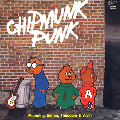 The Chipmunks ‎– Chipmunk Punk - VG- (low Grade) Lp Record 1980 Excelsior USA - Pop Rock / Parody
