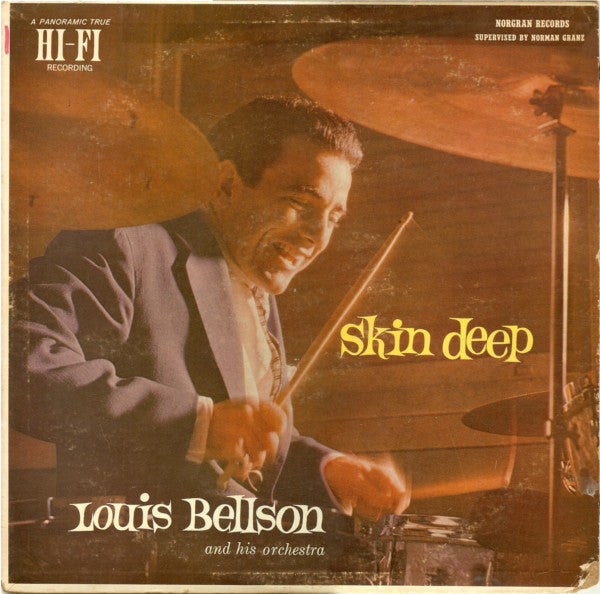 Louis Bellson And His Orchestra ‎– Skin Deep - VG Lp Record (Low grade cover) 1957 USA Original Vinyl - Jazz