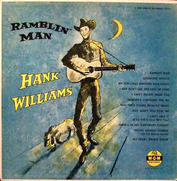 Hank Williams With His Drifting Cowboys ‎– Ramblin' Man (1955) - New Vinyl Record (Europe Import 180 Gram Limited Edition) 2016 Press - Country