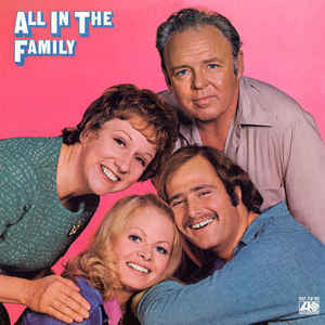TV Cast - All In The Family - VG+ 1971 Stereo USA Original Press (With Instert) - Comedy / Theme / Cast