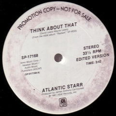 "Atlantic Starr – Think About That - Mint- 12"" USA 1981 Promo - Soul/Funk"