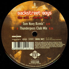 "Backstreet Boys – The Call - Remixes Vol 2 - New 12"" Progressive Trance (Germany) 2001"