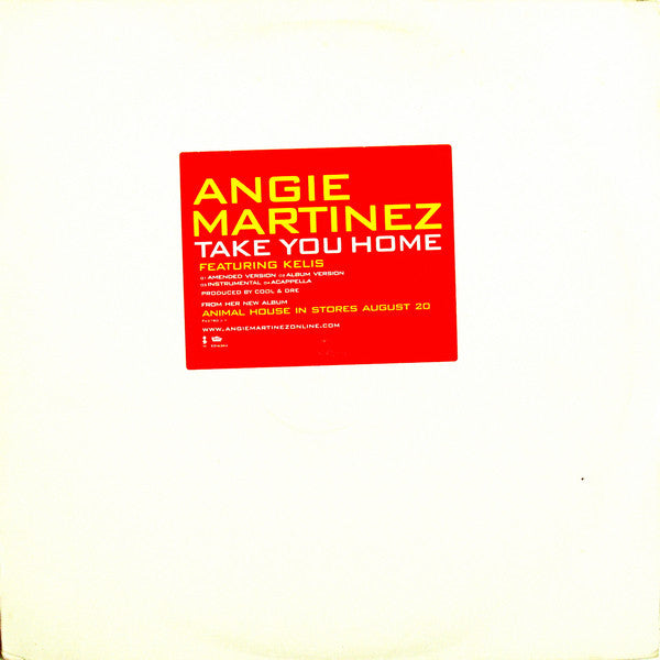 "Angie Martinez - Take You Home VG - 12"" Single 2002 Elektra USA - Hip Hop"