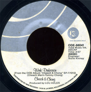 "Cheech & Chong ‎– Sister Mary Elephant / Wink Dinkerson VG 7"" Single 45 RPM 1972 Ode Records USA - Comedy"