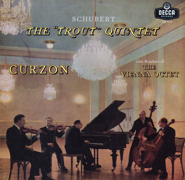"Various - Schubert: Quintet in A Major ""Trout"" - VG Mono 1950 Westminster USA Clasical -  B16-004"