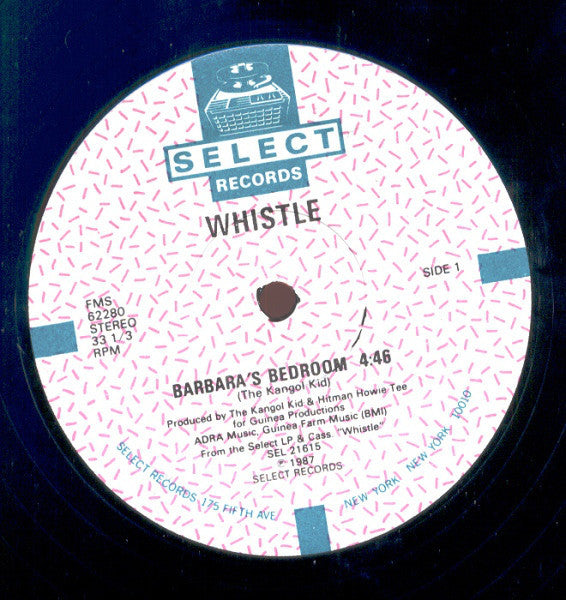 "Whistle – Barbara's Bedroom - New Vinyl Record 12"" (Vintage 1987) - USA - Rap/Electro"