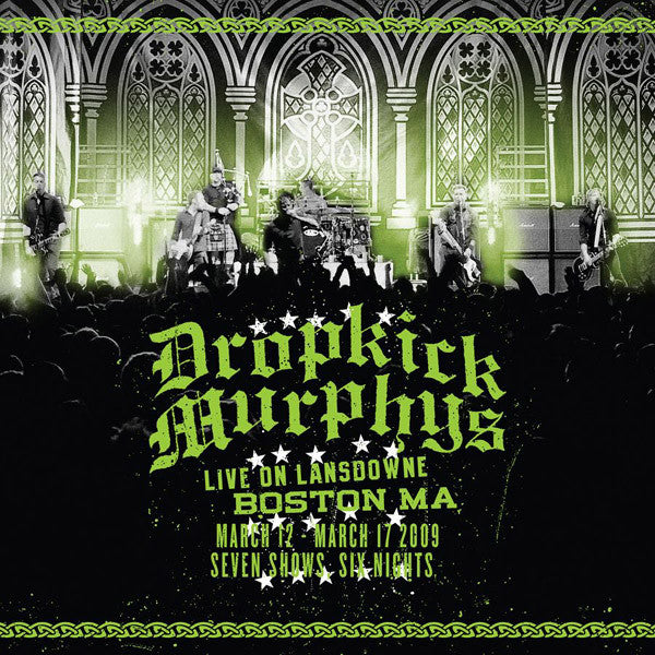 Dropkick Murphys - Live On Lansdowne, Boston MA - New Vinyl 2010 USA 2 Lp (Limited Edition 180 gram on GREEN VINYL with CD) - Punk Rock