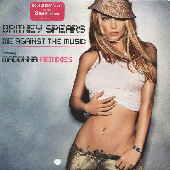 "Britney Spears Featuring Madonna – Me Against The Music (Remixes) - Mint- 12""x2 USA 2003 - House"