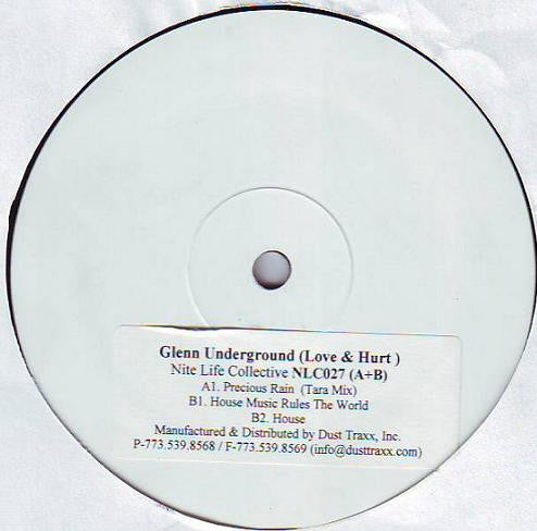 Glenn Underground ‎– Love & Hurt - New 3 Lp Record 2000 USA Test Press Promo - Chicago Deep House