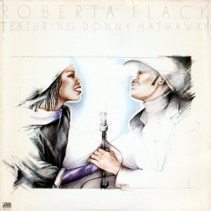 Roberta Flack Featuring Donny Hathaway ‎– Roberta Flack Featuring Donny Hathaway - VG+ Lp Record 1979 Original USA - Soul / Disco