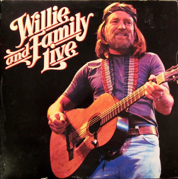 Willie Nelson - Willie & Family Live - VG+ 1978 2 LP Set (Original Press Promo LABEL) - Country